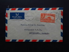 cover Gibraltar Heering to Denmark Danmark Air Mail Europa Point