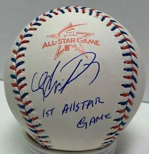Brewers AVISAIL GARCIA Signed MLB All Star Logo Baseball AUTO W/ Script JSA