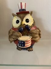 Fourth Of July Home Decor Owl 4.5 Inches