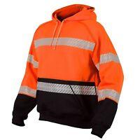 ML Kishigo Reflective Black Bottom Pullover Safety Sweatshirt, Orange