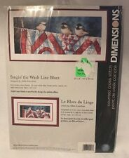 Dimensions Counted Cross Stitch Kit Singin The Wash Line Blues Birds #35201