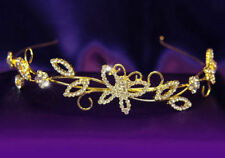 Bridal Butterfly Clear Crystal Gold Plated Tiara T1114