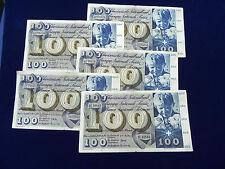 BILLET 100 Francs Suisse,1956, Très belle qualité. RARE VENDU A L UNITE