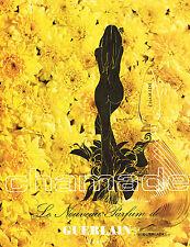 PUBLICITE advertising 1970   GUERLAIN  parfum  Chamade