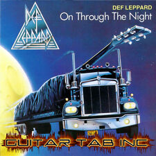 Def Leppard Guitar Tab Tablature ON THROUGH THE NIGHT Lessons on Disc