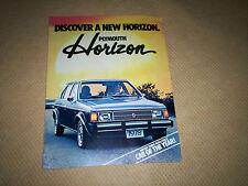 1978 Plymouth Horizon  DEALER SALES BROCHURE Motor Trend Car of the Year MOPAR