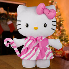 "New Hello Kitty Sanrio 20"" Pink Candy Cane Christmas Holiday Door Greeter"