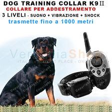 DOG TRAINING K9 II COLLARE EDUCATIVO PER ADDESTRAMENTO CANE 3 LIVELLI fino a 1km
