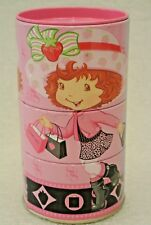 Strawberry Shortcake Tin Container Candy Holder Easter Metal Box Twist Toy