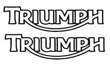 Triumph tank fairing decal stickers X 2 pair road track bike 150mm