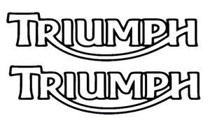 Triumph tank fairing decal stickers pair road track bike 150mm