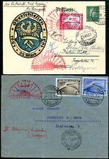 DR 1931 456-458 POLARFAHRT auf zwei ZEPPELIN BELEGEN 1600€(S7707
