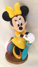 "Disney 3.5"" Humor Minnie Mouse in Yellow Figurine Ornament - Cake Topper"