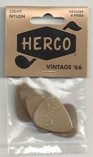 DUNLOP Herco HEV210P Guitar Picks  Vintage 66  Light  WITH FREE SHIPPING