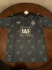 Borussia Dortmund Bape Razer Soccer Jersey Men's Size Large Football Shirt Black