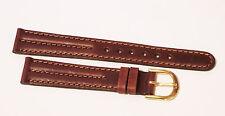 Hadley Roma genuine leather warm brown watch band, MIB, 16mm Decorative stitches