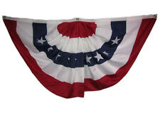 3x6 FT Embroidered USA American 2ply 600D Nylon Flag Bunting Fan 3'x6' Clips