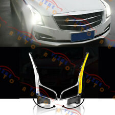 1 Pair LED Daytime Running Light(DRL)White & Yellow For Cadillac ATS 2013-2018-
