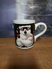 1996 Coca Cola Gibson Mug Coffee Cup Polar Bear Holiday Vintage Collector Coke