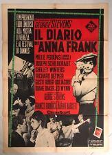 MANIFESTO ORIGINALE 2F IL DIARIO DI ANNA FRANK SHELLEY WINTERS STEVENS 1959