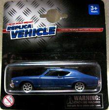 WELLY DIECAST CHEVELLE SS-396 CHEVROLET 1:60 BLUE MODEL CAR CAKE TOPPER NEW