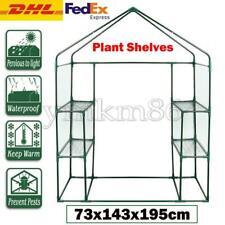 8 Shelves Walk-in Greenhouse Garden House Plants Shelf Green Plant Insulation