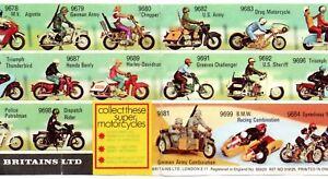 Facsimiles BRITAINS MOTORCYCLES Leaflet + Colour Facsimile 1964 Sales Leaflet