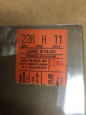 1978/79 New York Islanders Playoff Home Game 2 Seat 11 Ticket Stub