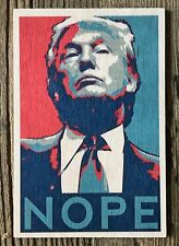 WOODEN POSTCARD SIGN: PRESIDENT TRUMP / OBAMA HOPE NOPE  - NEW & POST DAILY