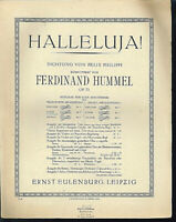 Ferdinand Hummel ~ Halleluja ! - Text Felix Philippi ~ alte, übergroße Noten