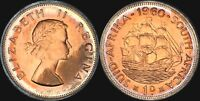 1960 SOUTH AFRICA 1 PENNY BU UNCIRCULATED CIRCLE TONED COIN IN HIGH GRADE