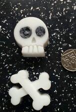 Hand made glycerin soap - skull & cross bone shape (bar). Novelty