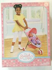 My Sweet Love Doll Jog Stroller pink blue hearts NIB