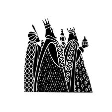 3 Kings / Wisemen Unmounted Rubber Stamp - Religious Christmas #26