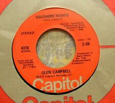 SOUTHERN NIGHTS (Allen Toussaint song) 45: GLEN CAMPBELL William Tell Overture