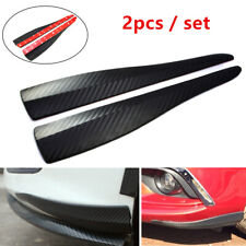 2x Universal Carbon Fiber Styling Bumper Guard Protect Scratch Front Rear Corner