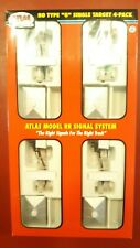 Atlas #237 HO Single Target Signal w/Relay Shed 4-Pack