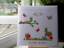 Cute Personalised Handmade Good Luck First 1st Day At New School Card Nursery