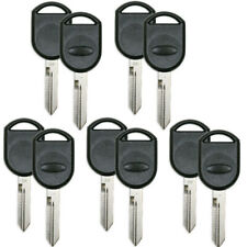 10 PCS Uncut Transponder Key Shell for Ford Flex Taurus Expedition 2001-2020