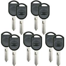 10 PCS Uncut Transponder Key Shell for Ford Flex Taurus Expedition 2001-2020