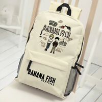 Anime BANANA FISH Ash Okumura Eiji School Backpack Shoulder Bag