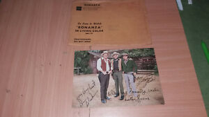 BONANZA CAST SIGNED AUTOGRAPHED PHOTO