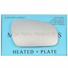 Pour VW Fox 2003-2011 côté droit Aspheric Electric Wing Door Mirror Glass + Plaque