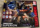 Transformers Combiner Wars Superion Set.  Complete!  G2 Deco! Damaged Box