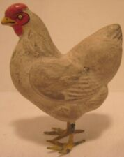 Old 1920s German Composition Chicken Hen for Easter or Christmas Village Putz
