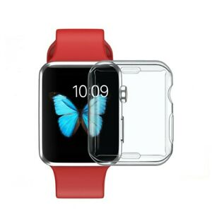 For Apple Watch Series 1 2 3 4 5 6 SE Full Body TPU Case Cover Screen Protector