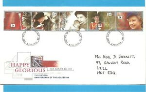 Q E II First Day cover. 40th Anniversary of Accession, 6th February 1992.