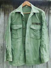 Vietnam era Us Army Utility Shirt Od Green Og-107 Medium-Large