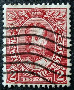 NEWFOUNDLAND 1911 : 2 cents King George V, Scott # 105