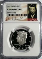 2012 S PROOF SILVER KENNEDY HALF DOLLAR NGC PF69 ULTRA CAMEO UC SIGNATURE LABEL